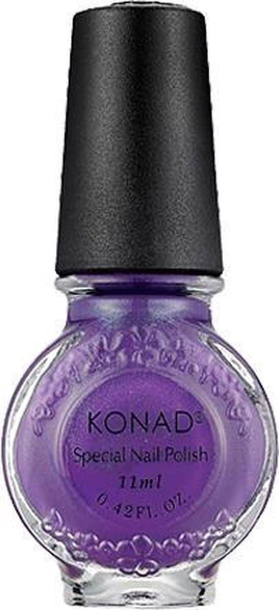 KONAD nagellak voor stempel VIOLET PEARL 18, 11 ml. Speciale nagellak voor stempel voor stamping nail art! Nagellak voor stempel is sneldrogend en verkrijgbaar in verschillende kleuren.