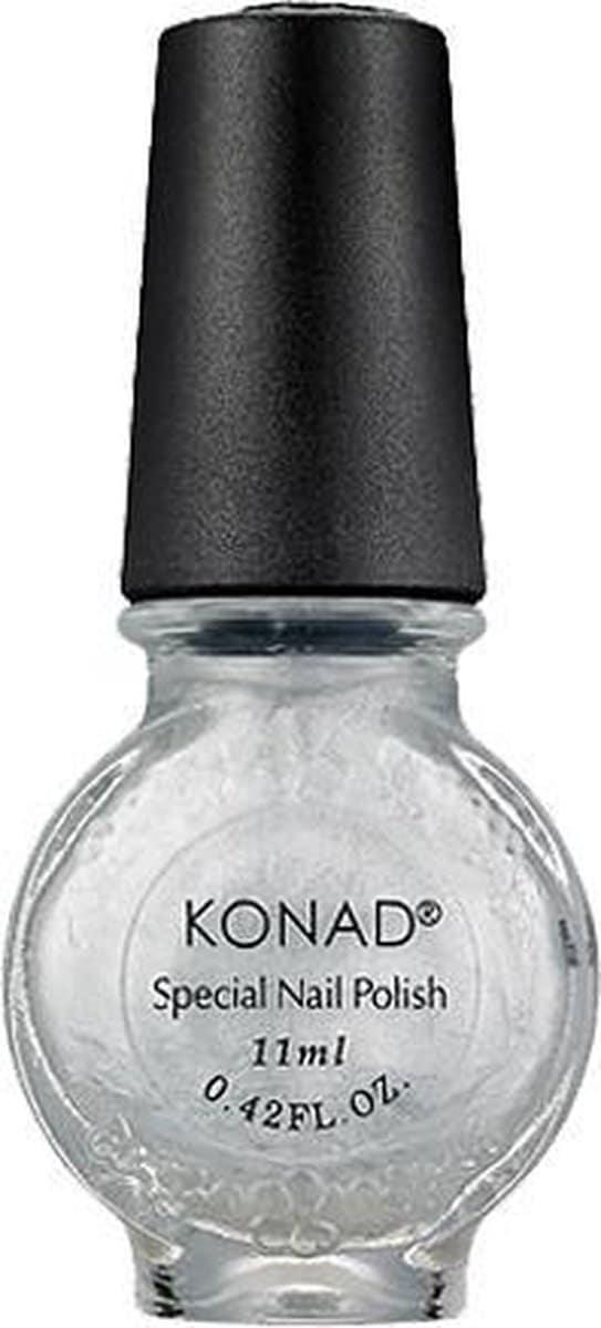KONAD nagellak voor stempel ZILVER 03, 11 ml