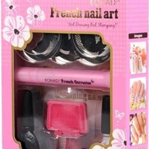 KONAD set FRENCH NAIL ART, 8-delig stempelset.