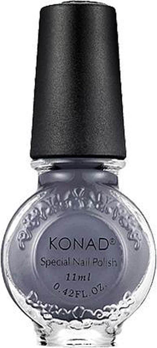 KONAD stamping lack GRIJS / GRAY 58, 11 ml voor stamping nail art. KONAD nagel stamping producten zijn zeer makkelijk en doeltre