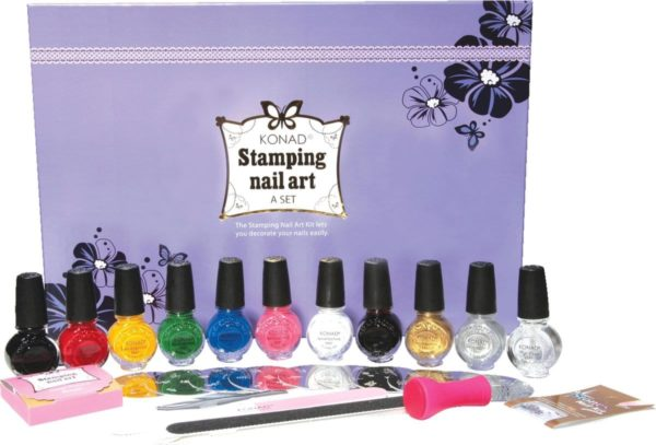 KONAD stamping nail art set A-SET, 29-delig stamping nail art set.