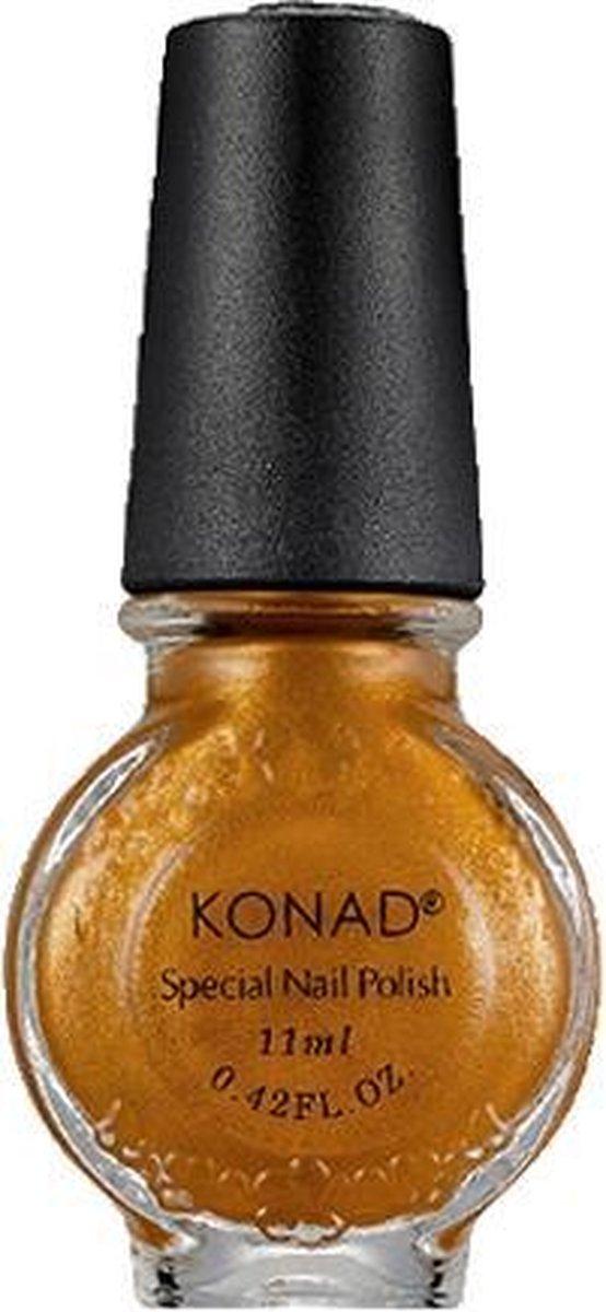 KONAD stempellak GOUD BRUIN / GOLD BROWN 12, 11 ml. Niet om nagels te lakken, maar voor nail art stempeltechniek! Beste stempel sjablonen, stempellak, stempel & schrapers!