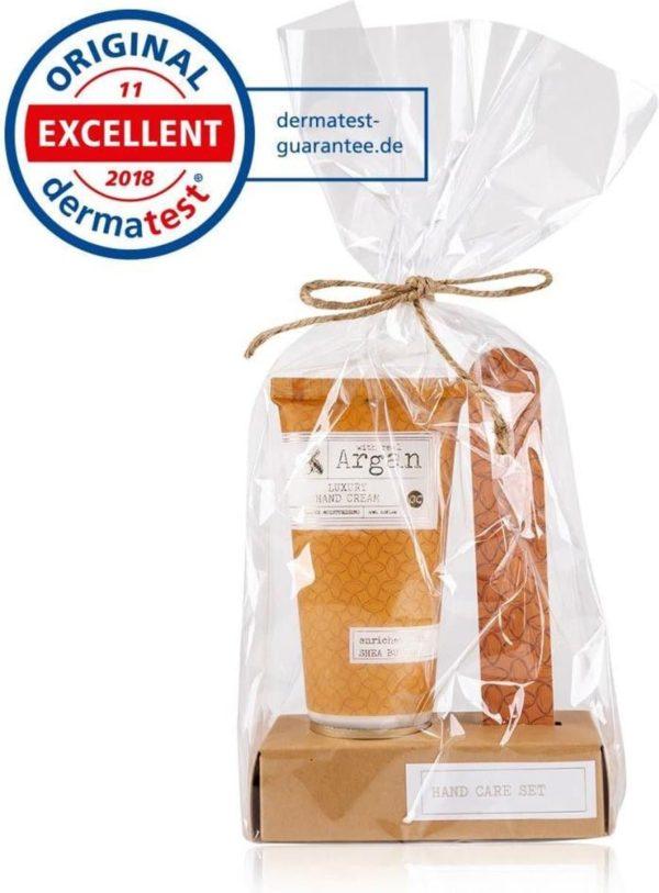 Kado vrouwen - 2-delig Handverzorging geschenkset Premium collection - Argan olie & Shea Butter - Cadeau voor moeder - vriendin - echtgenote - oma