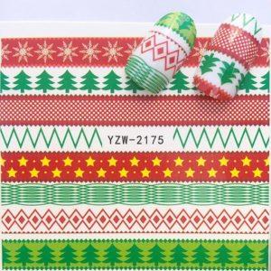 Kerst Nagelstickers - Kerstmis Nagel Stickers - Christmas Nail Art - Nagel Decoratie - Nagelversiering - Nageldecoratie - 3D Nail Vinyls - French Manicure Stickers - Kerst slingers