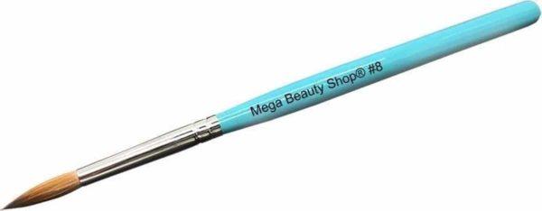 Kolinsky acryl penseel #8 Blauw/Kolinsky penseel- Acryl penseel- Acryl nagels