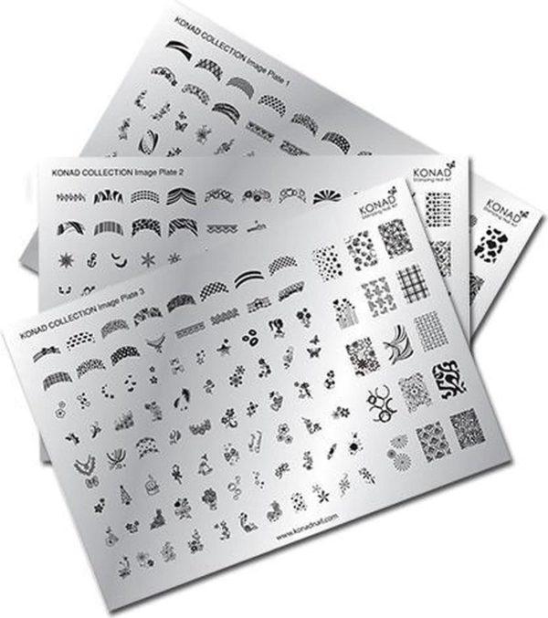 Konad 3 x collection Stempelplaat, Stamping, nailart,
