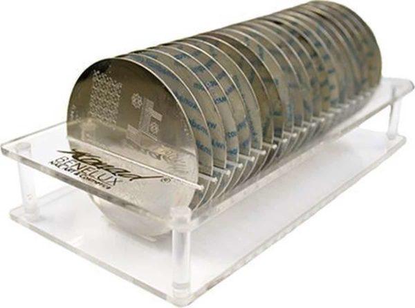 Konad imageplate houder plus 20 stempel platen - M 41 t/m M60 - stempel nailart plate
