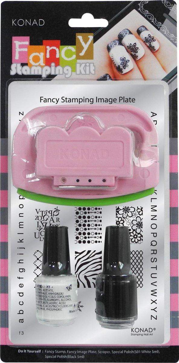 Konad stamping Fancy kit Nr3 - 5delige stempelset set