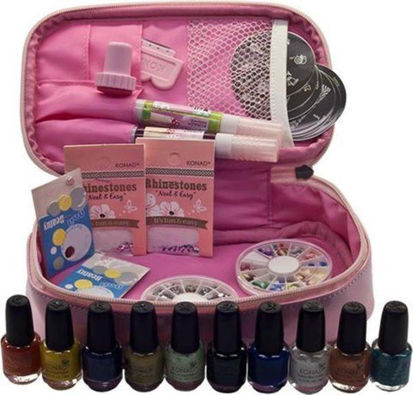 Konad stamping cadeau set pink 27 delig plus GRATIS TOP COAT M12 ,M55, M83, M94, M96, M97,