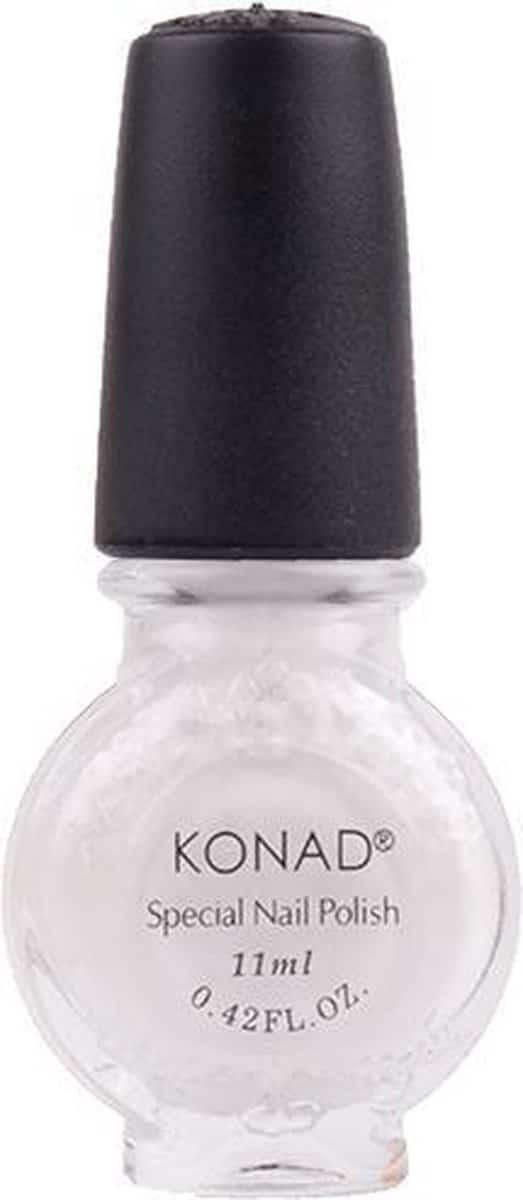 Konad stamping lak set black pearl- white en topcoat