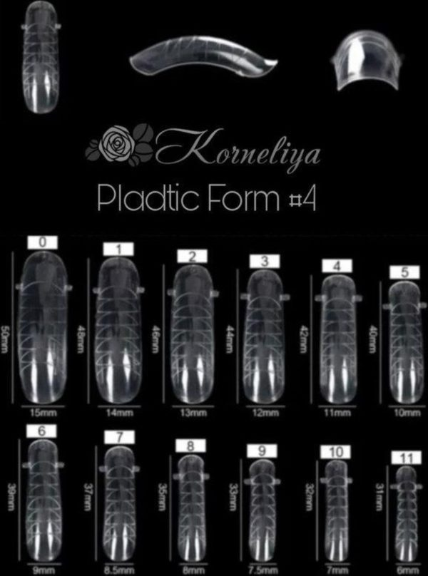 Korneliya Dual Form - Polygel / Acrylgel Form Box 4