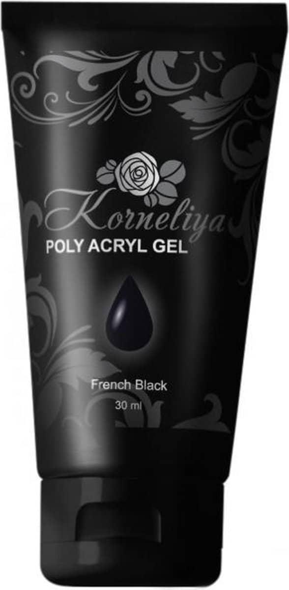 Korneliya Polygel - Acrylgel - Polyacrylgel FRENCH BLACK 30 Gram