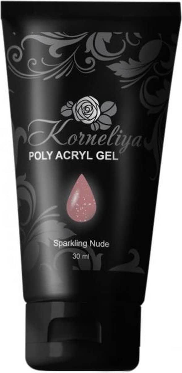 Korneliya Polygel - Acrylgel - Polyacrylgel SPARKLING NUDE 60 Gram