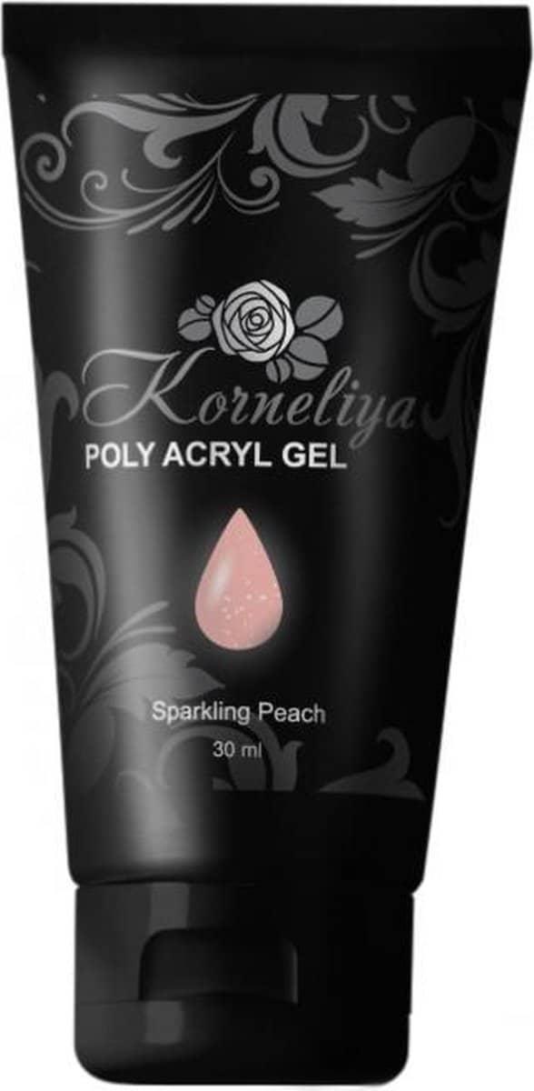 Korneliya Polygel - Acrylgel - Polyacrylgel SPARKLING PEACH 30 Gram