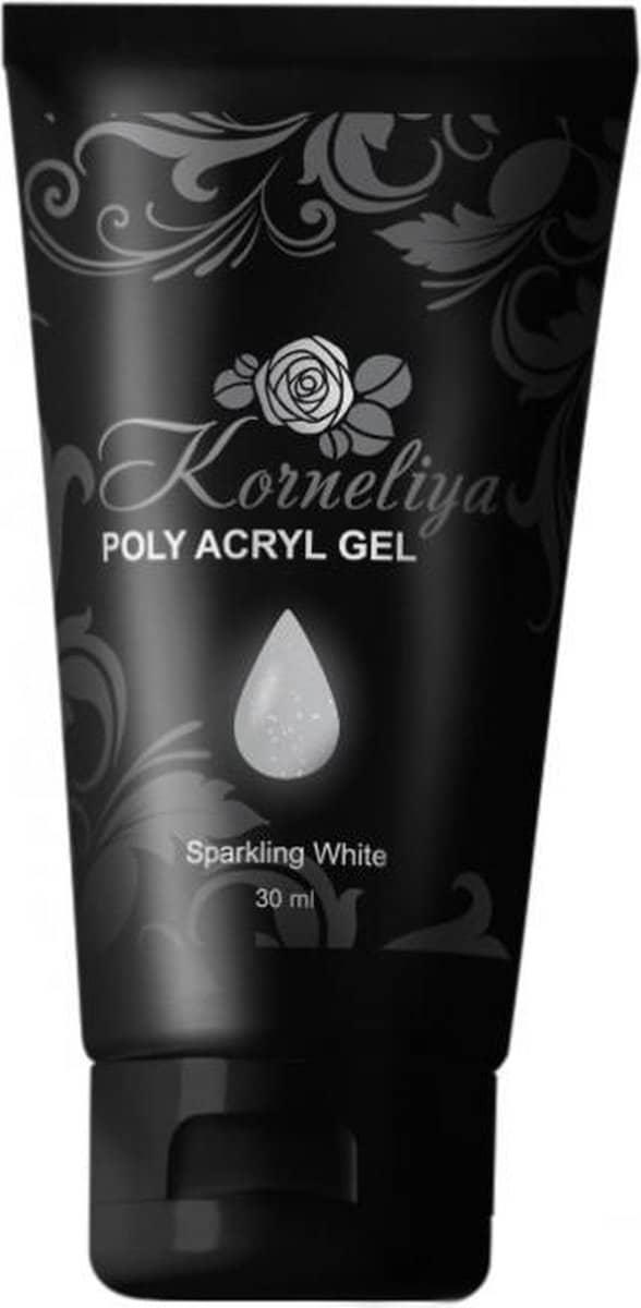 Korneliya Polygel - Acrylgel - Polyacrylgel SPARKLING WHITE 30 Gram