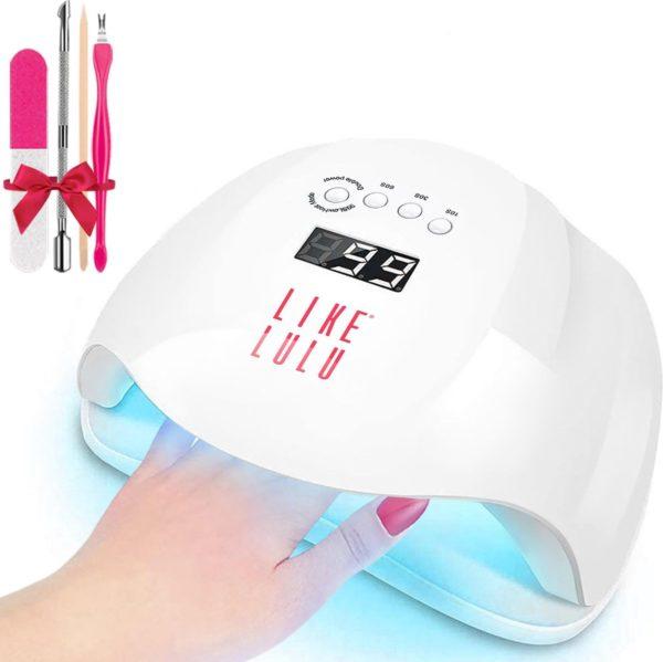 LED Gellak Lamp van LikeLulu® 54W - Nageldroger voor Gel nagellak - Geschikt voor elke Nagel Gellak - met 4 delig Nagelverzorgingsset