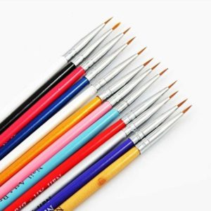 LOUZIR Luxe 12-Delige Nail Art Penselen - te gebruiken voor Acrylnagels - Gelnagels