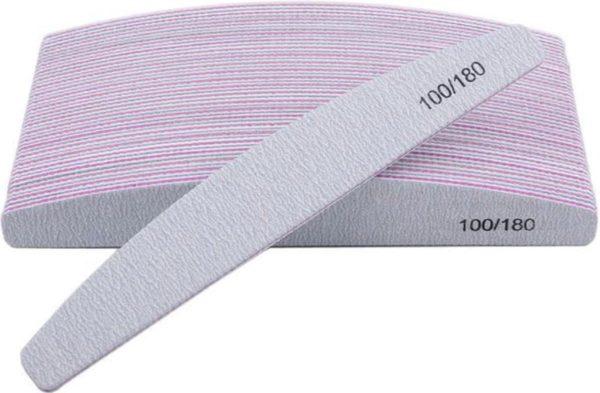 Lenks kwaliteit nagelvijl half moon 100/180 pak van 24 stuks hardheid hoog