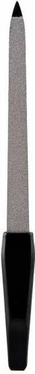 Lovely Pop Accessories - Lange Nagelvijl - Zilver/Zwart - 17 cm. lang - 1 vijl in blisterverpakking