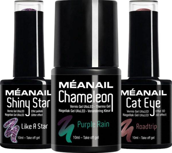 MEANAIL® Plum Gel Nagellak - 3 Kleuren Gellak - 3 x 10 ml