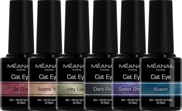 MEANAIL 6 kleuren gellak - CHARMED CAT EYE - Gel Nagellak - 6 x 8ml