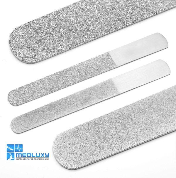 MEDLUXY Pro - Diamantvijl - Pedicure Manicure Nagelvijl- dubbelzijdig - 20 cm