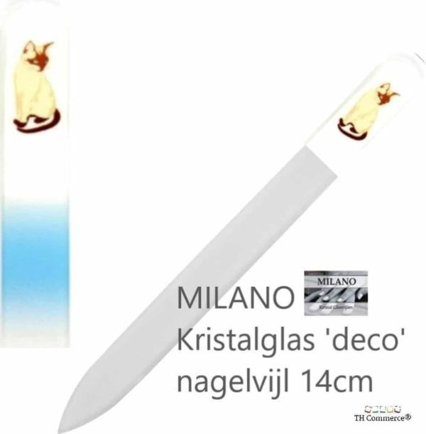 MILANO Nagelvijl - Glasvijl - Poes - Kat - levenslang mee - 5181