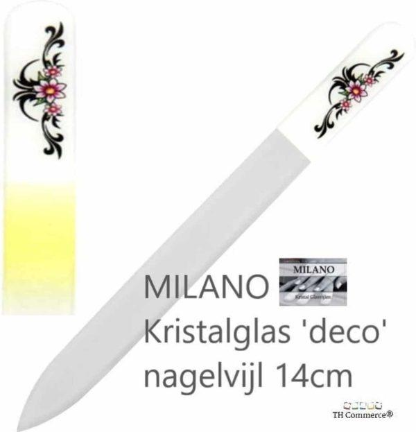 MILANO Professionele Kristal Glas Nagelvijl, Nagels, Glass Nailfile, tweezijdig, Tribal Rose
