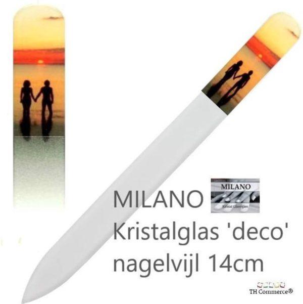 MILANO Professionele Kristal Glasvijl Nagelvijl - Romantiek - Nagels - tweezijdig - nr 1267
