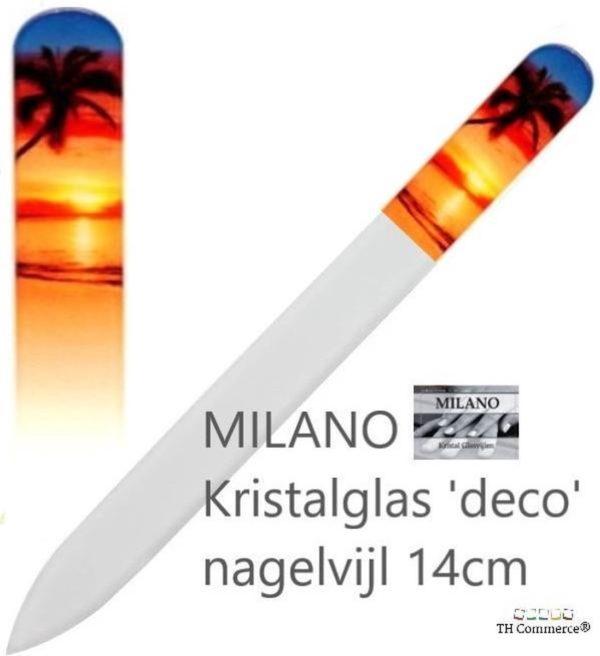 MILANO Professionele Kristal Glasvijl Nagelvijl - Strand Palmboom - Glass Nailfile - nr 1250