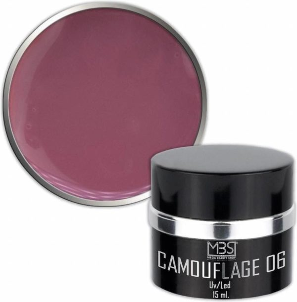 Mega Beauty Shop® Builder camouflage 15 ml (nr. 06) Uv gel - Kunstnagels