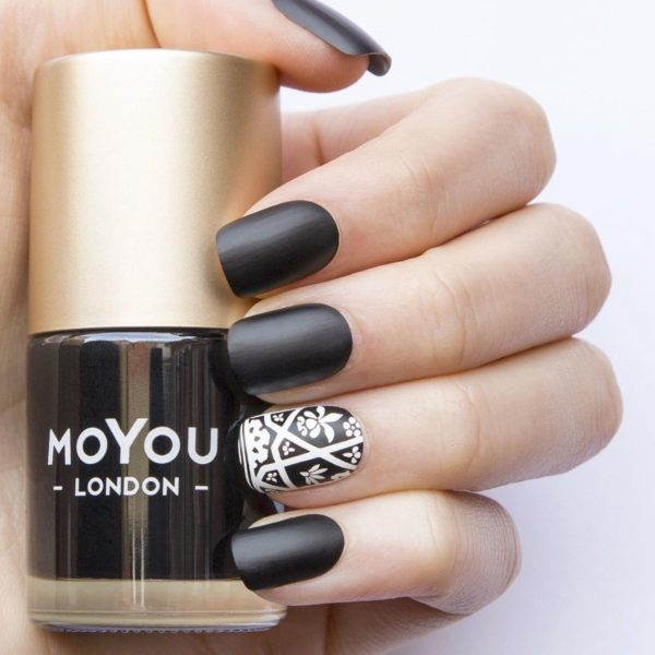 MoYou London Stempel Nagellak - Stamping Nail Polish 9ml. - Black Knight