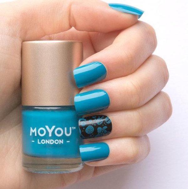 MoYou London Stempel Nagellak - Stamping Nail Polish 9ml. - Deep Ocean