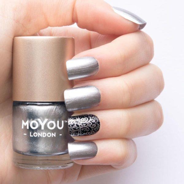 MoYou London Stempel Nagellak - Stamping Nail Polish 9ml. - Silver Dust
