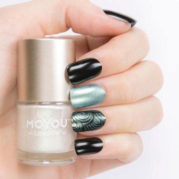 MoYou London - Stempel Nagellak - Stamping - Nail Polish - Avalon Pearl - Groen - Shimmer