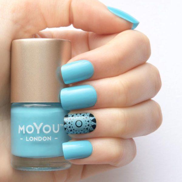 MoYou London - Stempel Nagellak - Stamping - Nail Polish - Beach House - Blauw