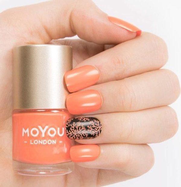 MoYou London - Stempel Nagellak - Stamping - Nail Polish - Cancun Coral - Oranje