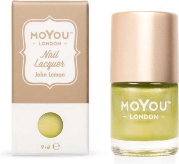 MoYou London - Stempel Nagellak - Stamping - Nail Polish - John Lemon - Geel - Groen