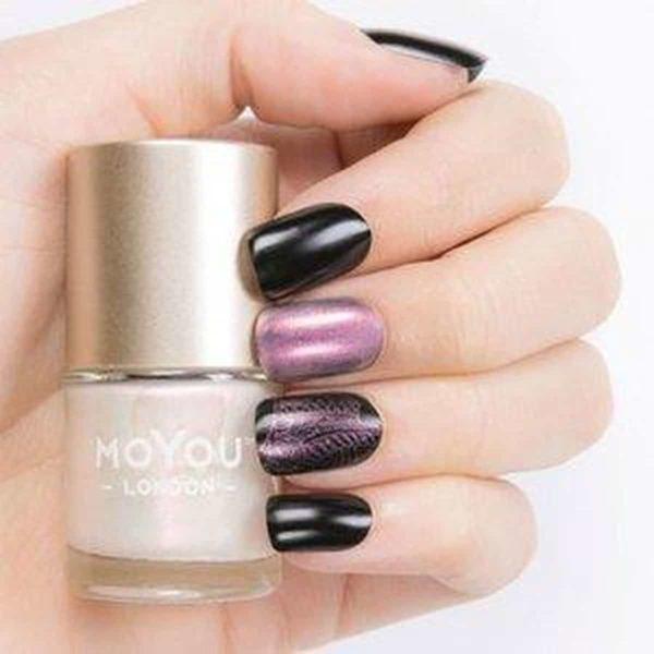 MoYou London - Stempel Nagellak - Stamping Nail Polish - Milano Pearl - Roze Shimmer