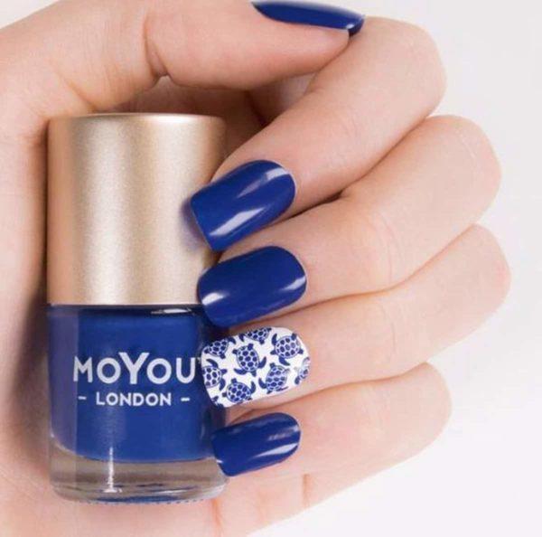 MoYou London - Stempel Nagellak - Stamping - Nail Polish - Mood Indigo - Blauw