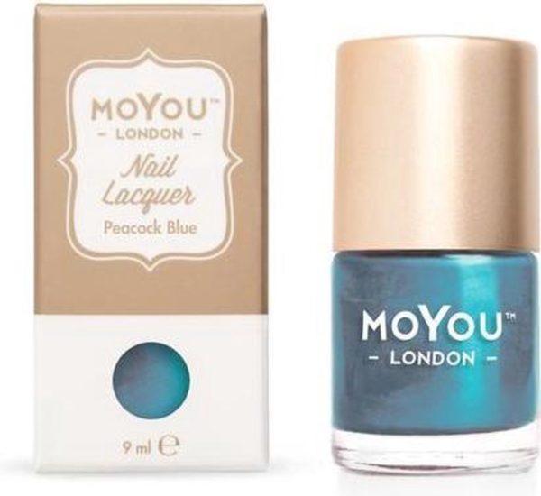 MoYou London - Stempel Nagellak - Stamping - Nail Polish - Peacock Blue - Blauw
