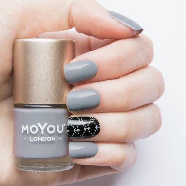 MoYou London - Stempel Nagellak - Stamping - Nail Polish - Silver Fox - Grijs