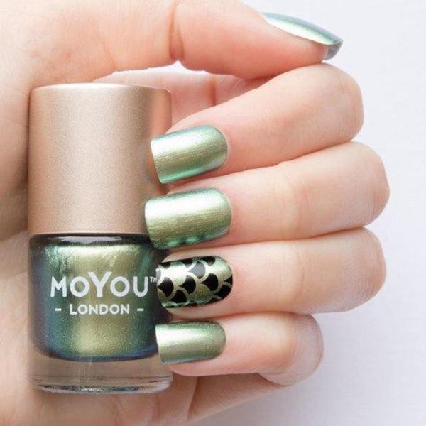 MoYou London Stempellak - Croco Spark - Groen Multicolor Shimmer