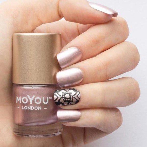 MoYou London Stempellak - Frosted Lips - Roze Shimmer