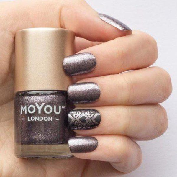 MoYou London Stempellak - Galaxy - Paars Shimmer