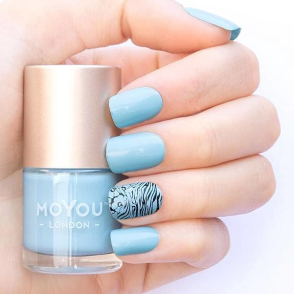 MoYou London Stempellak - Glacier - Blauw