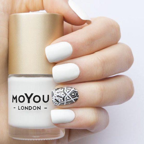 MoYou London Stempellak - White Knight - 15ml - Wit - LET OP: Grootverpakking tegen lage prijs
