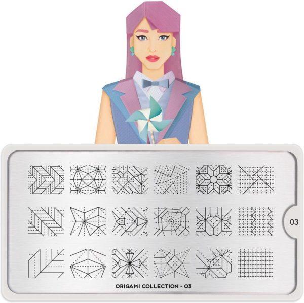 MoYou London - Stempelplaat - Nail Art - Stamping - Origami 03