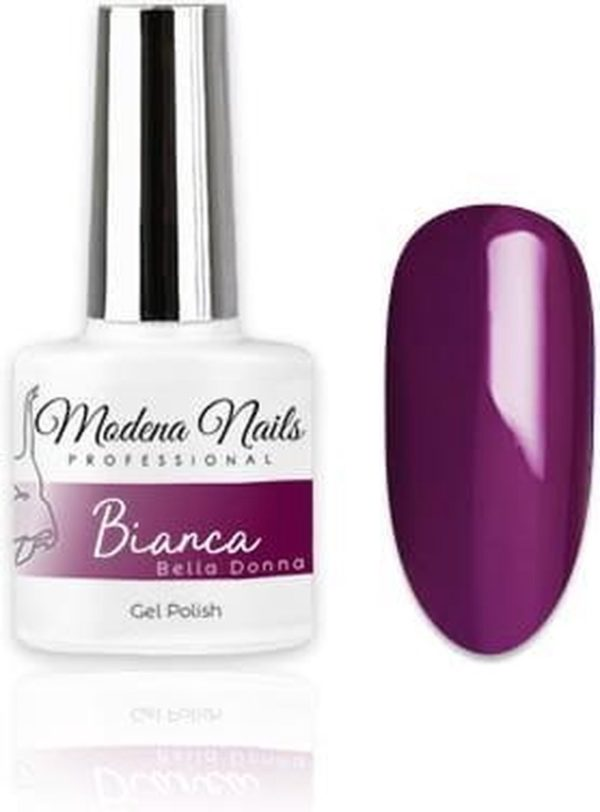 Modena Nails Gellak Bella Donna - Bianca 7,3ml.