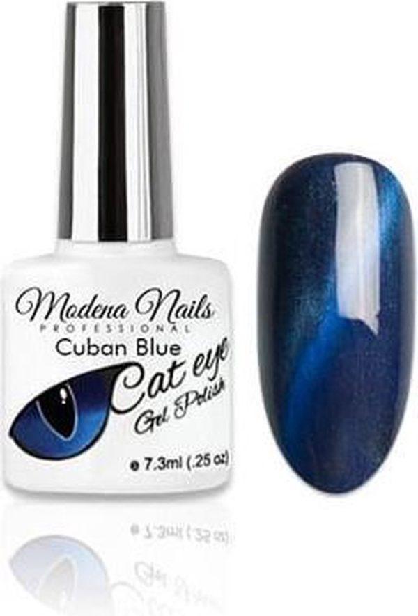 Modena Nails Gellak Cat Eye - Cuban Blue 7,3ml.